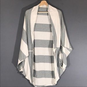 NWOT Lululemon sage scarf bold stripe gray